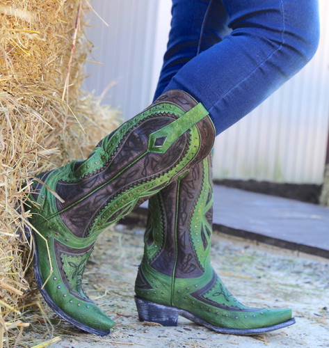 Old Gringo Urbi Green Chocolate Boots L2678-3 Photo