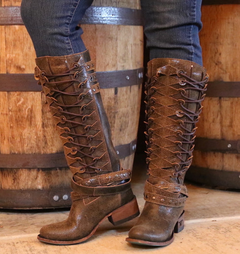 Lane Ghillegan Brown Black Boots LB0333A Image