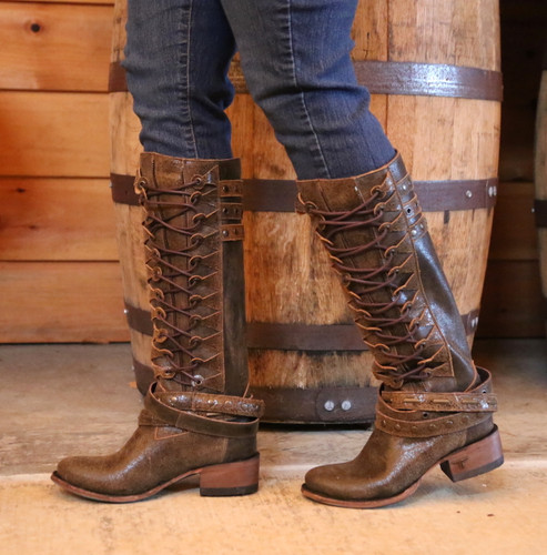 Lane Ghillegan Brown Black Boots LB0333A Side