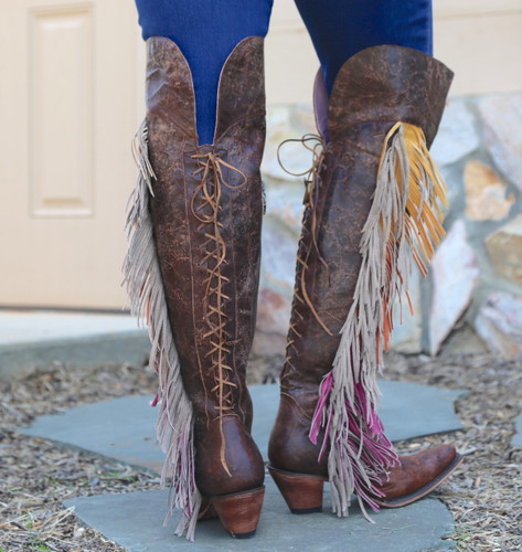 Junk Gypsy by Lane Spirit Animal Brown Boots JG0022A Lace