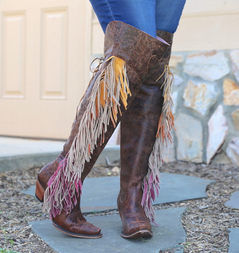 Junk Gypsy by Lane Spirit Animal Brown Boots JG0022A Toe