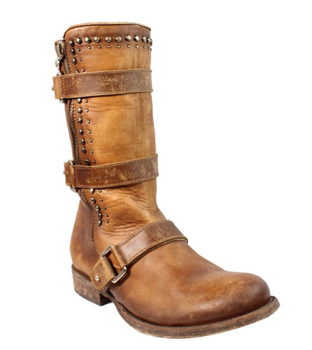 Corral Cognac Multi Straps and Studs Boots C2966 Picture