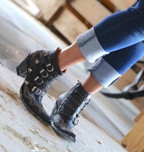Old Gringo Roxy Black Boots BL2794-1 Toe
