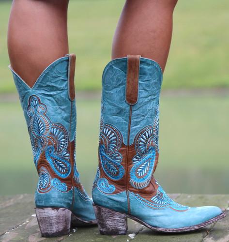 Old Gringo Bell Blue Boots L2833-1 Heel