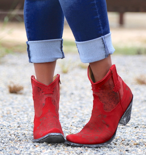 Yippee by Old Gringo Atenea Red Boots YL250-3 Front