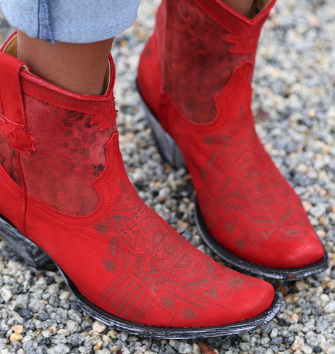 Yippee by Old Gringo Atenea Red Boots YL250-3 Toe