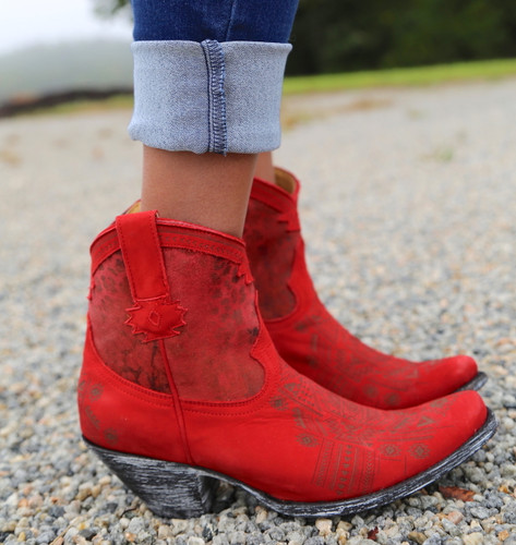 Yippee by Old Gringo Atenea Red Boots YL250-3 Side