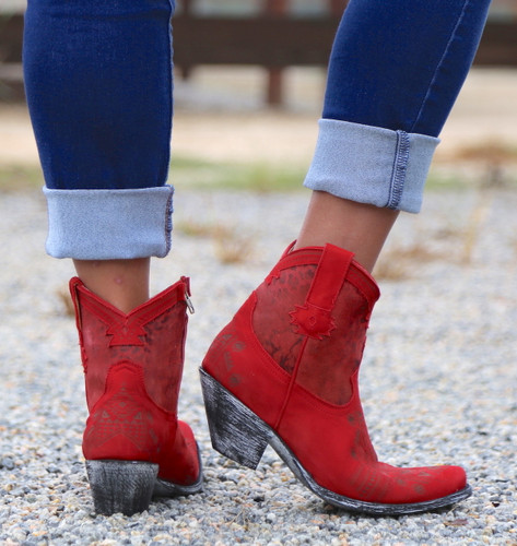 Yippee by Old Gringo Atenea Red Boots YL250-3 Heel