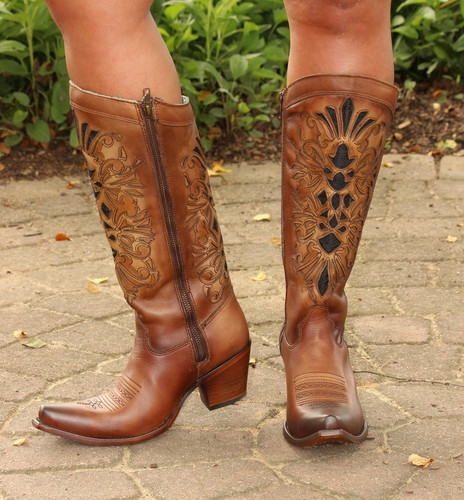Corral Honey Laser Inlay Embroidery Boot C3148 Side Photo