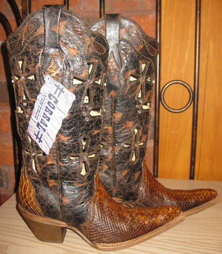 Corral Musgo Python Boots C2123 Right Picture