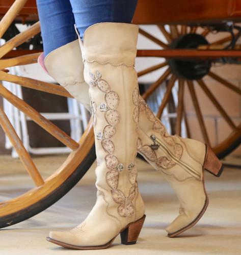 Junk Gypsy by Lane Cactus Knee High in Tonal Cream Boots JG0041C Walk