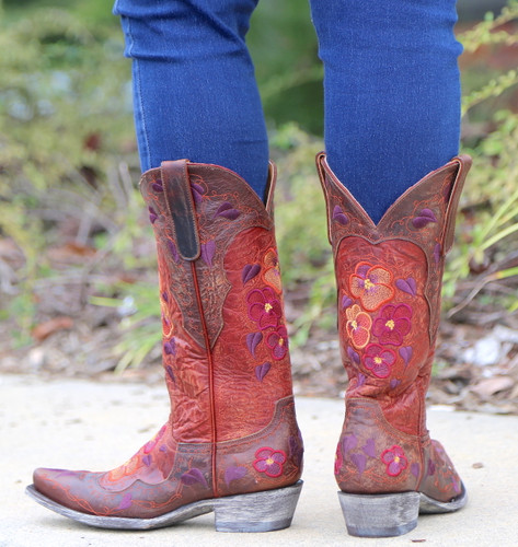 Old Gringo Pansy Mango Boots L2621-6 Heel