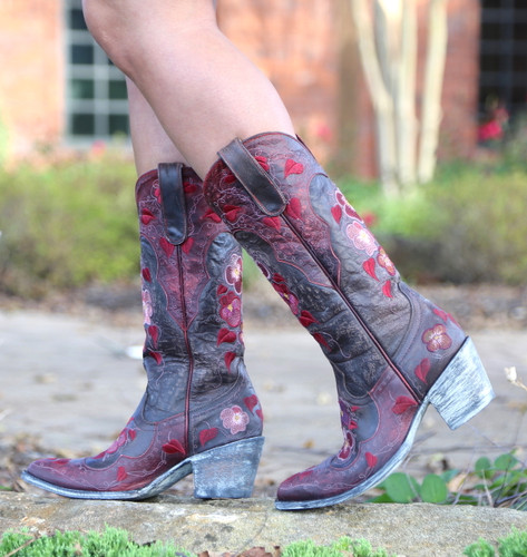 Old Gringo Pansy Chocolate Boots L2621-1 Walk