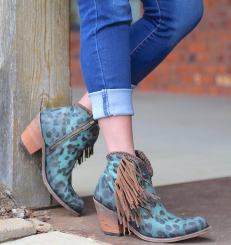 Liberty Black Chita Turquesa Boots LB712320 Fringe