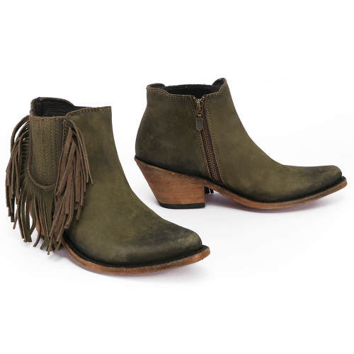 Liberty Black Military Green Side Fringe Boot LB712948 Picture