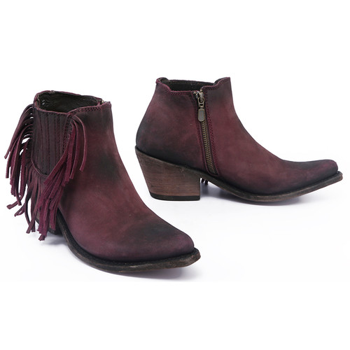 Liberty Black Tinto Side Fringe Boots LB712948 Image