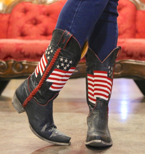 Old Gringo Eleanor Blue Beaded Flag Boots L2961-1 Picture