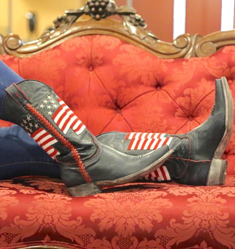 Old Gringo Eleanor Blue Beaded Flag Boots L2961-1 Photo