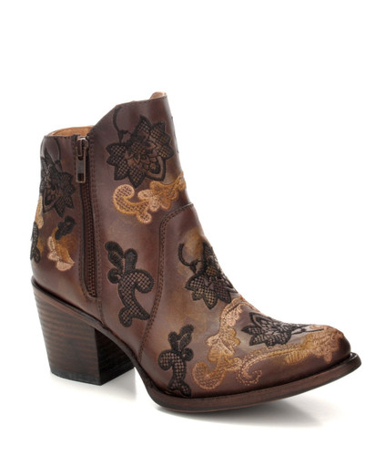 Corral Brown Embroidery Ankle Boot C3272 Picture