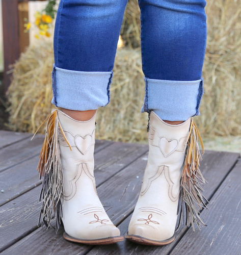Junk Gypsy by Lane Spirit Animal Shortie Cream JG0040C Toe