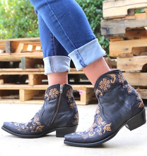 Old Gringo Aster Short Black Boots BL2950-1 Side
