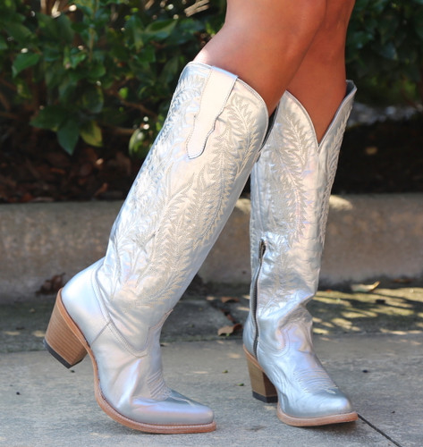Corral Silver Embroidery Tall Top Boots E1321 Photo