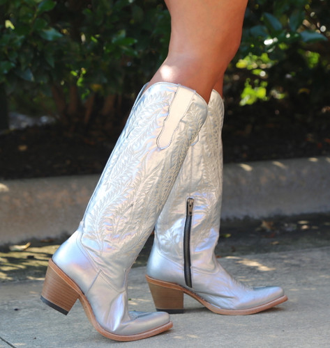 Corral Silver Embroidery Tall Top Boots E1321 Image