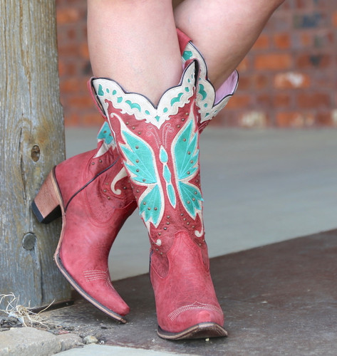 Junk Gypsy By Lane Day Dreamer Strawberry Boots JG0029A Turquoise