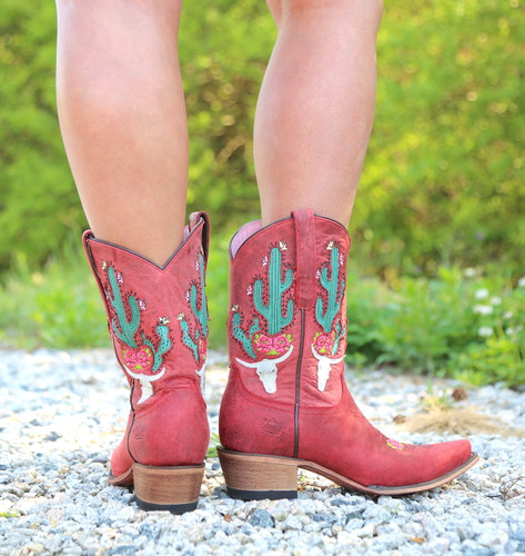 Junk Gypsy by Lane Bramble Rose in Red Boots JG0015D Heel