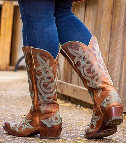 Old Gringo Diego Rust Relaxed Fit Boots L113-13 Heel