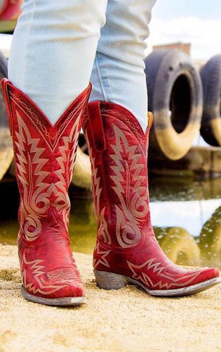 Old Gringo Nevada Red Relaxed Fit Boots L175-262 Live Image