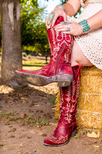 Old Gringo Mayra Red Relaxed Fit Boots L1213-1 Detail