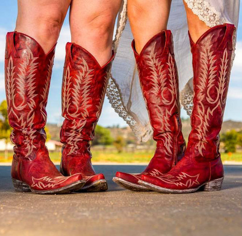 Old Gringo Mayra Red Relaxed Fit Boots L1213-1 Image