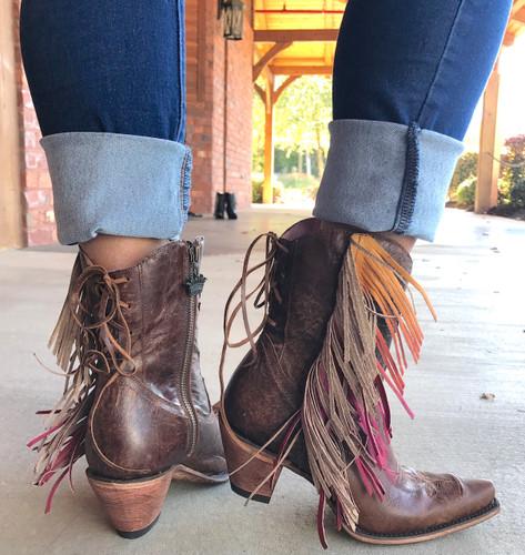 Junk Gypsy by Lane Spirit Animal Shortie Brown Boots JG0040A Heel