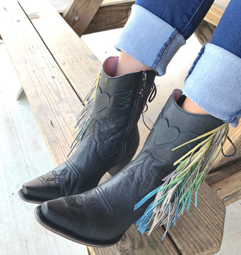 Junk Gypsy by Lane Spirit Animal Shortie Black Boots JG0040B Detail