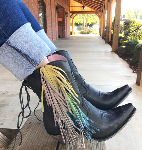 Junk Gypsy by Lane Spirit Animal Shortie Black Boots JG0040B Picture