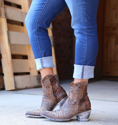 Old Gringo Eagle Crystal Zipper Boots L859-2 Image