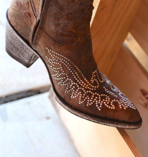 Old Gringo Eagle Crystal Zipper Boots L859-2 Detail