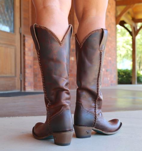 Lane Plain Jane Cognac Boots LB0350I Heel