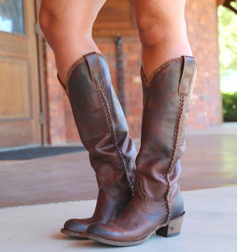Lane Plain Jane Cognac Boots LB0350I Image