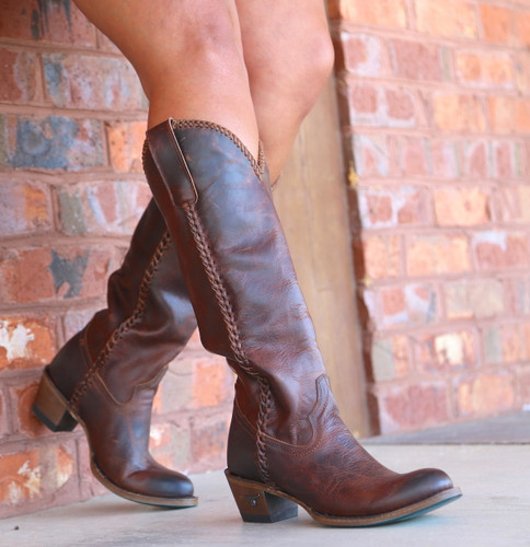 Lane Plain Jane Cognac Boots LB0350I Picture