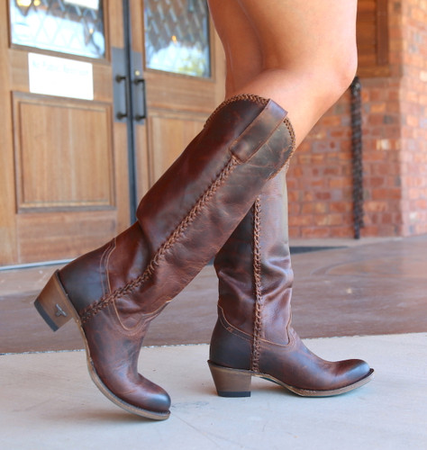 Lane Plain Jane Cognac Boots LB0350I Walk