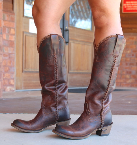 Lane Plain Jane Cognac Boots LB0350I Photo