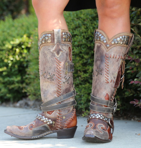 Double D by Old Gringo Frontier Trapper Boots DDL004-1 Front