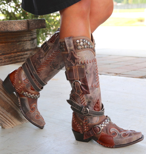 Double D by Old Gringo Frontier Trapper Boots DDL004-1 Picture