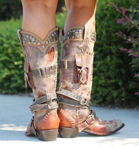 Double D by Old Gringo Frontier Trapper Boots DDL004-1 Heel