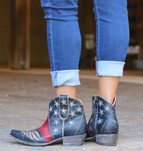 Old Gringo United Short Blue Boots BL2976-1 Heel