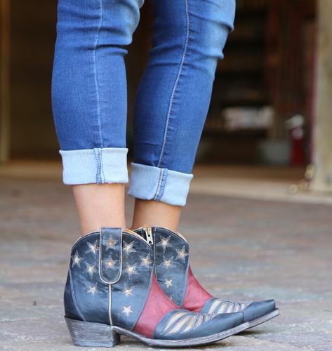 Old Gringo United Short Blue Boots BL2976-1 Image