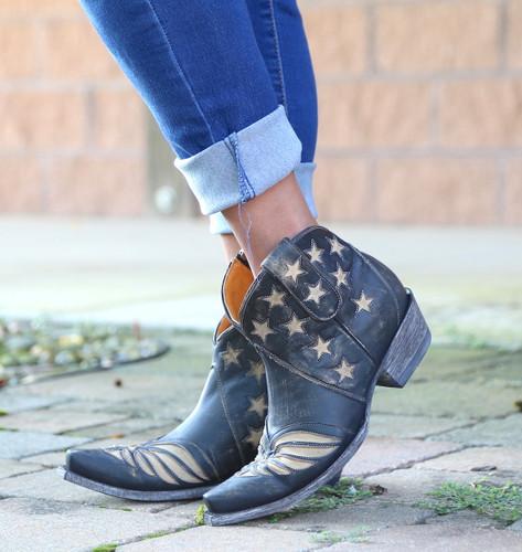 Old Gringo United Short Rustic Beige Boots BL2976-2 Stars