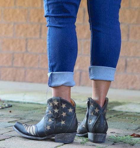 Old Gringo United Short Rustic Beige Boots BL2976-2 Heel